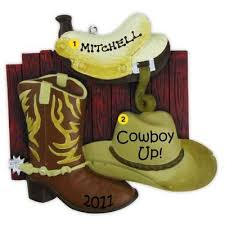 cowboy boots personalized ornament