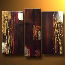 Burgundy Modern Canvas Art Wall Decor Abstract Oil Painting Wall