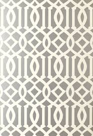 Kelly Wearstler Wallpaper by F Schumacher Imperial Trellis Silver 5003362 Luxury Decor