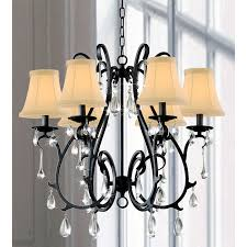 Black Metal Chandeliers This Iron And Crystal Chandelier Will Wow A Room With Its