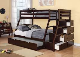 Bunk Bed Sets Acme 37015 Jason Espresso Finish Wood Bunk Bed Set
