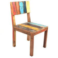 Teak Esszimmer Bank Fishboat Design Stuhl Recycling Teak Holz Bunt Individuell