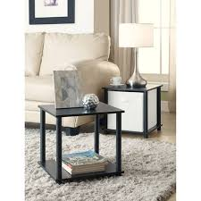 Cube Side Table Mainstays No Tools Single Cube Storage Shelf Side Tables Set Of 2