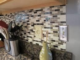 kitchen backsplash stick on tiles 71 most common peel stick backsplash tiles smart grigio in l