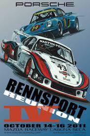 porsche turbo poster rennsport reunion iv poster