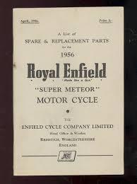 1956 royal enfield 700cc model super meteor motorcycle parts