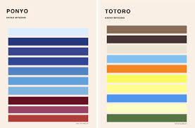 color palettes inspired by hayao miyazaki u0027s films design milk