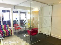 glass wall manchester single glazed frameless glass office