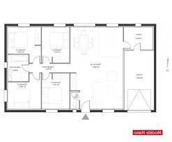 plain pied 4 chambres plan de maison chambres plain pied gratuit moderne plan de maison