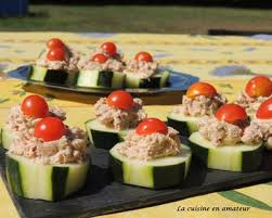 recette canape recette canapé de concombre au thon facile rapide