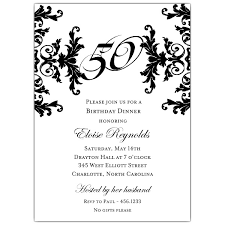 50th wedding invitations black and white decorative framed 50th birthday invitations