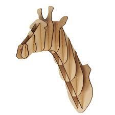 home decor giraffe large small wooden giraffe animal head trophy kit 3d wall art
