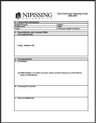 bunch ideas of teaching lesson plan template elementary in sample