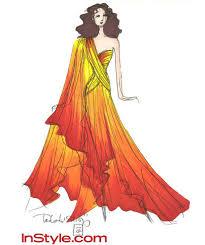 katniss everdeen u0027s designer fire dress sketches for the hunger