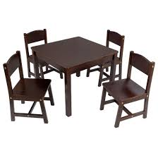4 Seat Dining Table And Chairs Farmhouse Table 4 Chair Espresso Kidkraft Target