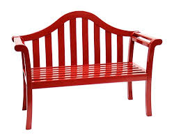 contemporary glossy red arched porch bench patio furniture