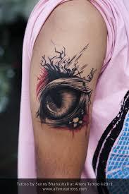 abstract cat eye tattoo inked by sunny at aliens tattoo mumbai