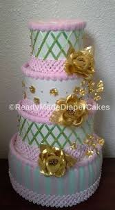 green and gold plaid themed by readymadediapercakes