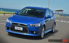 mitsubishi blue 2015 mitsubishi lancer xls review video performancedrive