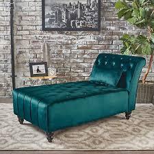 Velvet Chaise Lounge Rafaela Tufted New Velvet Chaise Lounge Ebay