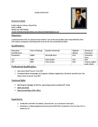 Resume Extracurricular Activities Sample by Mukesh Resume
