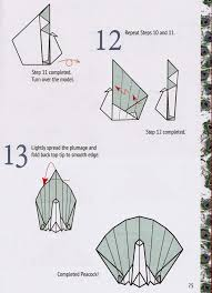 Easy Origami Peacock - how to fold an origami turkey and make a thanksgiving wr on