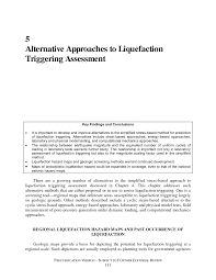 5 alternative approaches to liquefaction triggering assessment