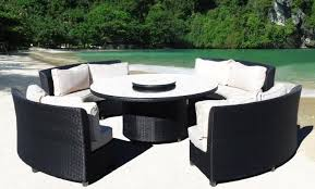 cool round outdoor seating resin wicker seating groups outdoor