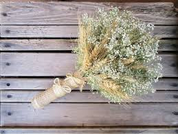 baby s breath bouquet simple summer wheat baby s breath bridal bouquet dried