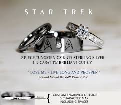 route 66 wedding band trek tungsten and 925 sterling silver 1 15 carat cz