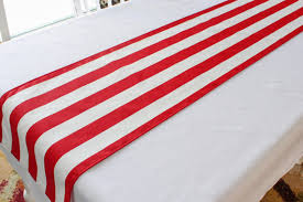 red and white table runner red and white striped table runner choose length patriotic