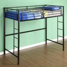 Walker Edison Sunset Metal Twin LoftBunk Bed Black Amazonca - Half bunk bed