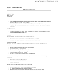 Physical Therapist Assistant Resume Examples by Pta Resume Samples Resume Format 2017