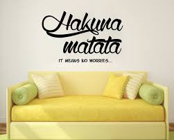 Amazon Wall Murals by Wall Decals Quotes Hakuna Matata Letters Words Decals Vinyl