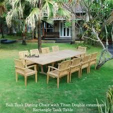 Teak Patio Furniture Set - patio dining set titan oval table u0026 bali chair