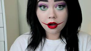 lady joker halloween makeup tutorial youtube