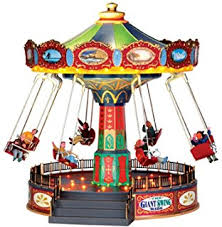 amazon com lemax christmas village santa carousel by lemax home