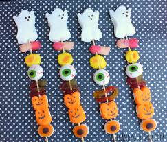 halloween candy skewers a and a glue gun
