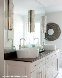 Polished Nickel Vanity Mirror Bryant Sconces On Frameless Vanity Mirror Transitional Bathroom
