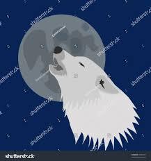 arctic wolf howling moon stock vector 38551075 shutterstock