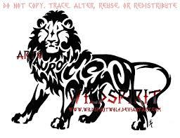 auron tribal lion tattoo by wildspiritwolf on deviantart