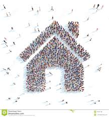 people in the shape of a house stock illustration image 47691798