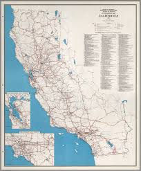 Ojai California Map State Highway Map California 1960 David Rumsey Historical Map