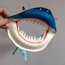 halloween paper plate crafts paper plate shark mask halloween pinterest shark mask shark