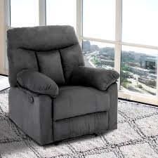 Single Chairs For Living Room by Recliner Single Chair Sofa Seat Living Room Furniture Faux Suede