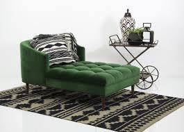 Velvet Chaise Lounge St Barts Chaise Lounge In Emerald Velvet Modshop