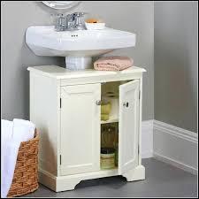 tall white corner storage cabinet corner rotating bathroom storage