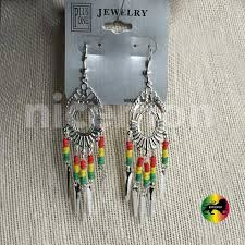 reggae earrings jamaica rasta irie earrings marley reggae earrings rastafari