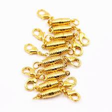 gold necklace clasps images 2018 gold lobster clasp golden thread magnetic buckle bracelet jpg