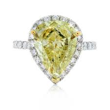 fancy yellow diamond engagement rings 18k white gold pear shape fancy yellow diamond halo engagement ring